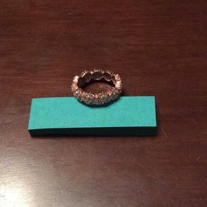 floral ring with zirconia